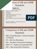 Comparison of GB & ASME Standards