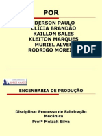 APRESENTAÇÃO - PROCESSO DE FABRICAÇÃO MECÂNICA