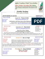 Aug Sept Oct Nov 2013 Newsletter