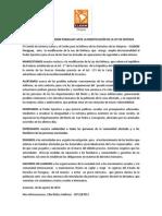 Comunicado de Cladem Py sobre la aprobación de modificaciones a la Ley de Defensa y Seguridad Interna