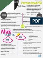 PBX Premise vs. Hosted Infographic