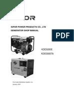 Kipor KDE5000E 5000TA Service Manual[1]