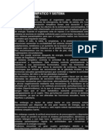 El Sistema Simpatico y Sistema Parasimpatico