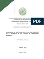 ELABORACIÓN DE SIMULACIONES EN EL SOFTWARE GEOGEBRA EN EL DESARROLLO DE LA CAPACIDAD DE COMUNICACIÓN MATEMÁTICA