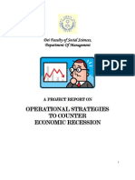 Operational Strategies to Counter Recession