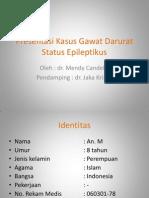 Preskas Gadar - Status Epileptikus