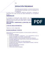 INVESTIGACIÓN PRELIMINAR(PRIMERA FASE)