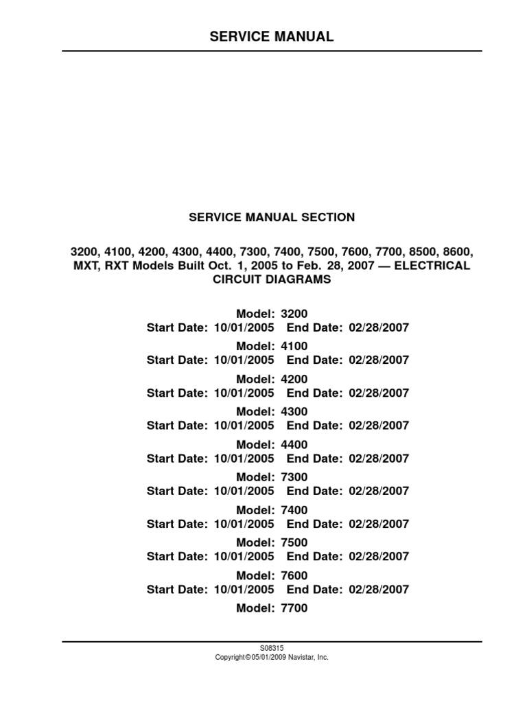 WRG-6242] Navistar International Wiring Diagrams Vt365 on