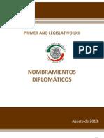 27-08-13 Nombramientos diplomáticos primer año LXII legislatura