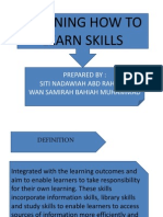 Learning How to Learn Skills