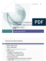 Corporate Finance Syllabus NYU 2013