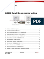 G.8262 SyncE Conformance Testing