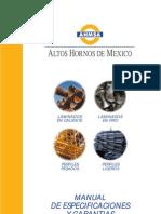 AHMSA Manual de Especificaciones