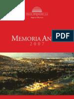 Memoria Anual Empresa Hidroelectrica
