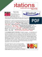 Newsletter 8.27.13