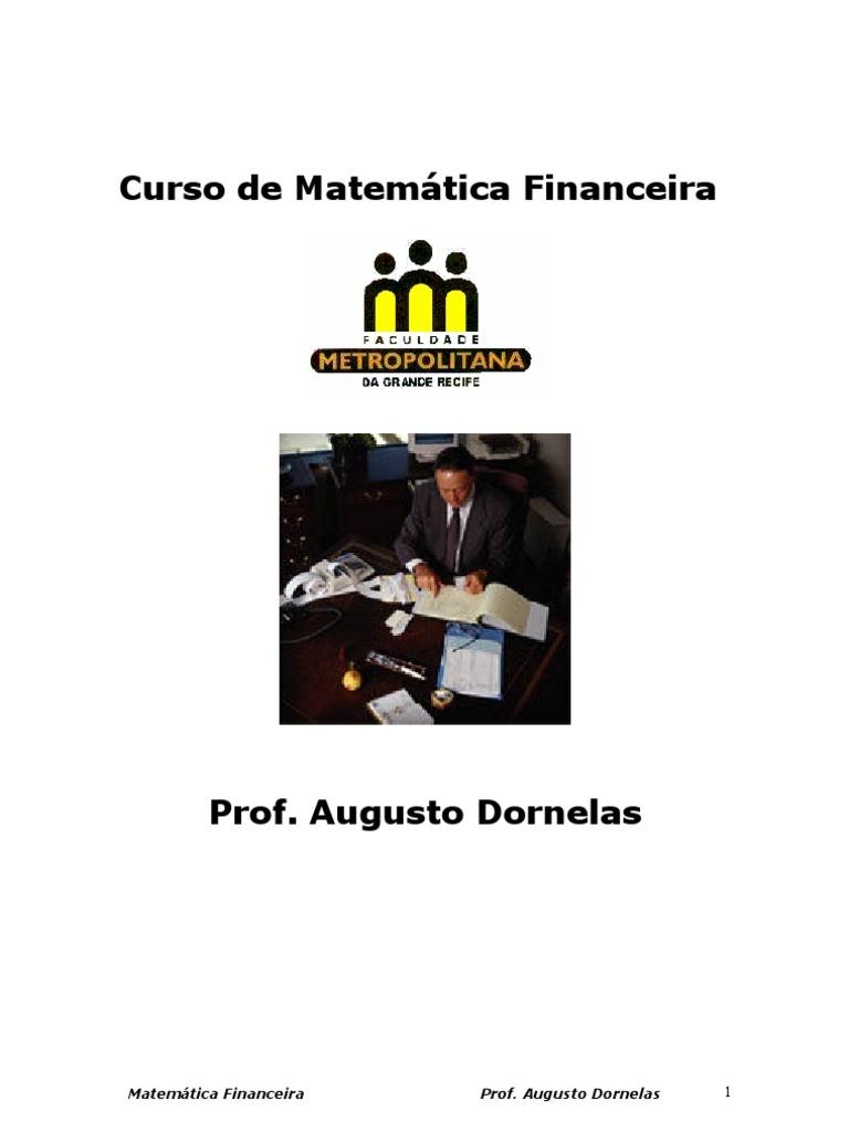 20f8ee5344 FMGR - Curso de Matem Tica Financeira - 2013.2 - PDF