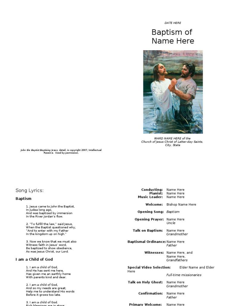 Unusual Lds Sacrament Program Template Contemporary - Example Resume ...