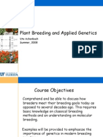 Plant Breeding and Genetics