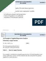 Bivariate Regression Analysis
