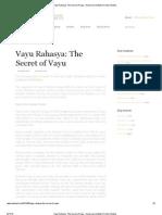 Vayu Rahasya_ The Secret of Vayu – American Institute of Vedic Studies