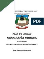 Plan Geografía Urbana 2013- INTENSIVA