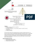 SAS-510-2 Log Periodic Antenna Datasheet