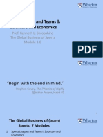 Coursera Sports Business Course Module 1
