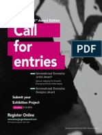 International Emergying Artists award competition poster