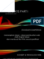 Web Statis Part I