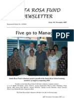 Santa Rosa Fund Newsletter Issue 30