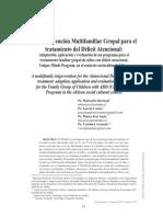 Una Intervencion Multifamiliar Grupal Para El Tratamiento Del Deficit Atencional