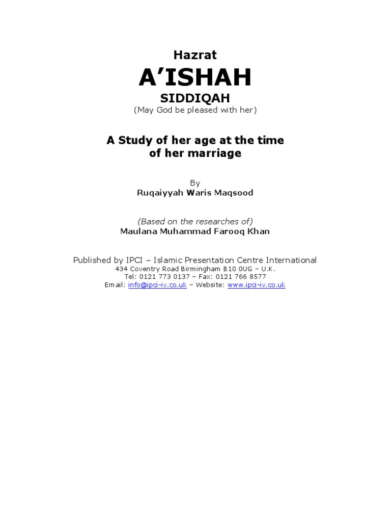 Madam aishah a study of her age at the time of her marriage with madam aishah a study of her age at the time of her marriage with prophet muhammad muhammad abrahamic religions fandeluxe Gallery