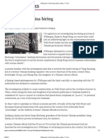 JPMorgan's China hiring under scrutiny - FT