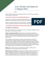 Montar una Empresa de Diseño de Paginas Web.