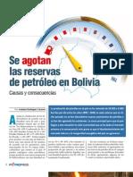 Se Agotan Las Reservas de Petroleo en Bolivia