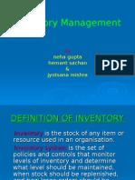 Inventory Control M0729,M0733,M0739