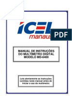 Manual do Multímetro Digital MD-6400