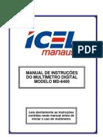 Manual do Multímetro Digital MD-6400