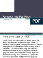 Research Into Pop Music