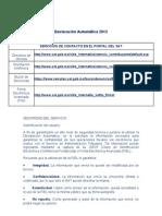Declaración Automática 2013