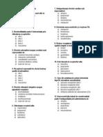 Farmacologie -Intrebari Grila Medicatia SNV