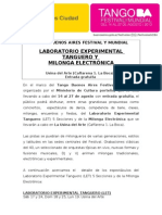 Tango Buenos Aires Festival y Mundial - Laboratorio Experimental Tanguero-Milonga Electronica.doc