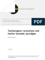 Perez (2009) Technological Revolutions