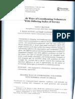 Multiple Ways of Coordinating Volunteers-Abstract