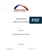 A Standard for Asphaltic Plug Joints