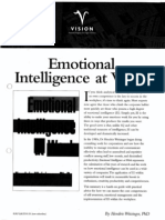 Executive Book Summary - Emotional Intelligence at Work