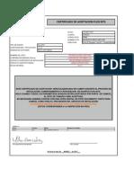 Certificado de Aceptacion Ris.montelargo Umts 850