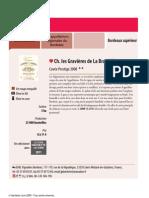 Château Les Gravières de La brandille _ cuvée prestige 2008 - guide hachette