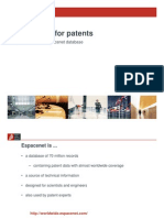 Searching for Patents En