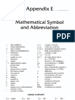 Appendix E - Mathematical Symbol